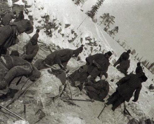 construcción en la epoca de Stalin foto de Aleksandr Mijáilovich Ródchenko